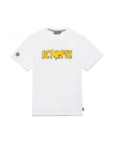 Octopus X Spongebob | T Shirt Octopus F.U.N. Logo Tee - White
