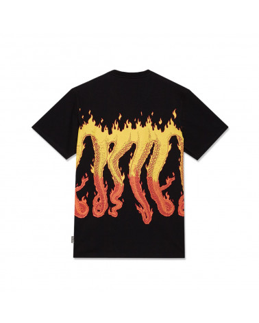 Octopus | T Shirt Octopus Flames Tee Black