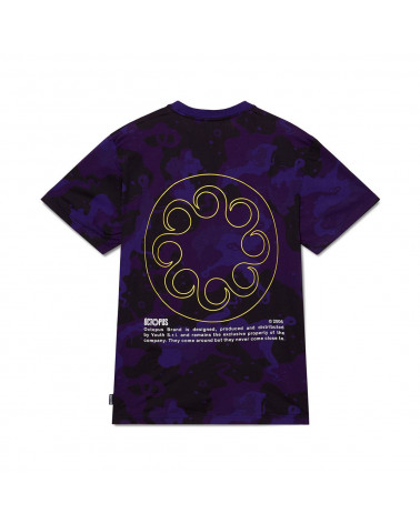 Octopus - T Shirt Octopus Camo Tee Purple
