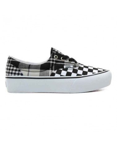 Vans Era Platform Plaid Checkerboard - Black/True White