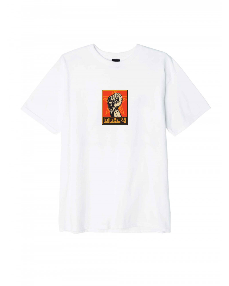 Obey T-Shirt Fist 30 Years - White