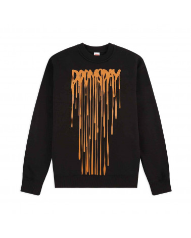 Doomsday Sweatshirt Drip Crewneck - Black