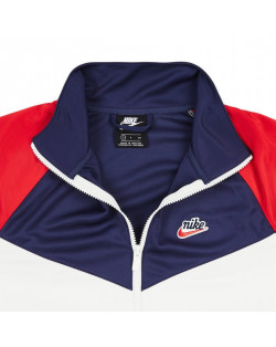 Nike Felpa NSW HE PK WR Track Top - Summit White/Midnight Navy