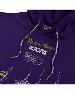 Octopus x Rick e Morty Vortex Hoodie - Purple
