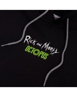 Octopus x Rick e Morty Wathc Hoodie - Black