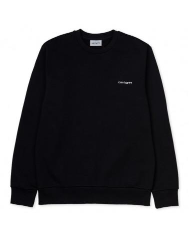 Carhartt Wip Felpa Script Embroidery Sweatshirt - Black