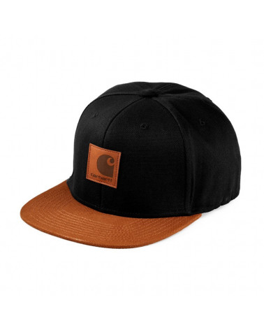 Carhartt Wip Logo Cap Bi Colored - Black / Hamilton Brown