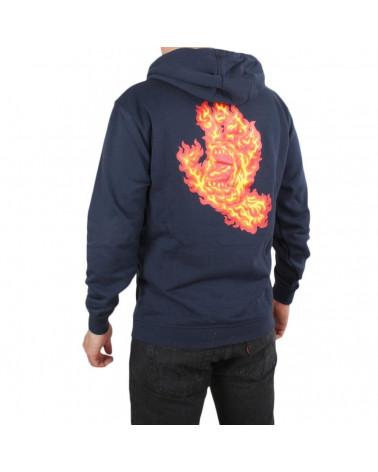 Santa Cruz Felpa Flame Hand Hoodie - Dark Navy
