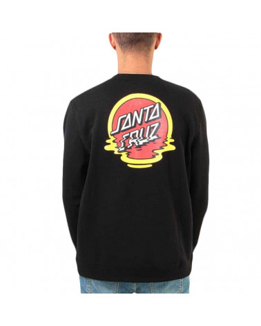 Santa Cruz Dot Reflection Crew - Black