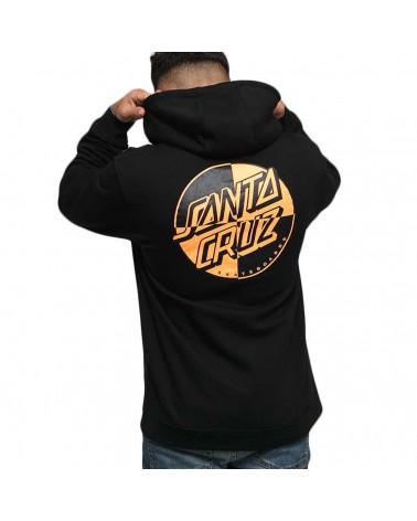 Santa Cruz Felpa Crash Dot Hoodie - Black