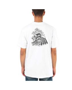 Santa Cruz T-Shirt Bone Wave Tee - White