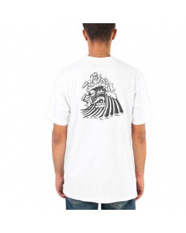 Santa Cruz T-Shirt Bone Wave Tee - White