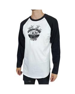 Santa Cruz T-Shirt Horizon L/S Baseball Top - Black/White