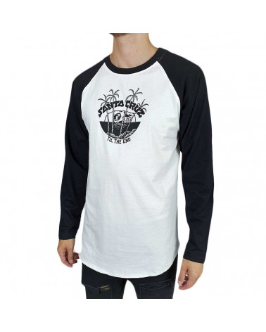Santa Cruz T-Shirt Horizon L/S Baseball Top - Black/White