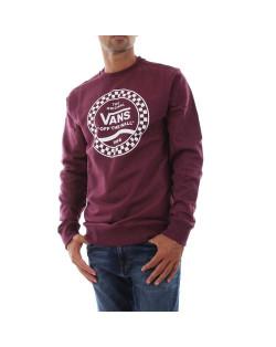Vans Sweatshirt Side Stripe Fleece Crew - Prune