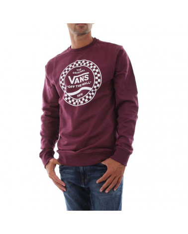 Vans Sweatshirt Side Stripe Fleece Crew - Prune