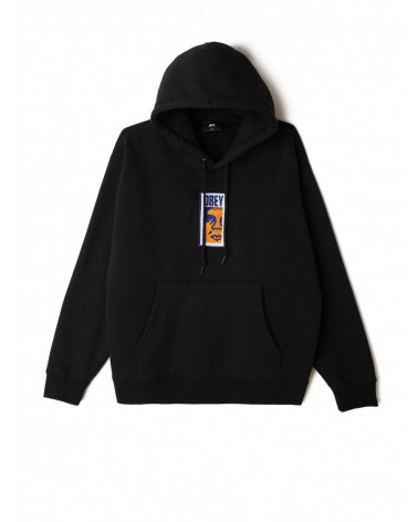 Obey Sweatshirt Obey Slim Icon Hood - Black