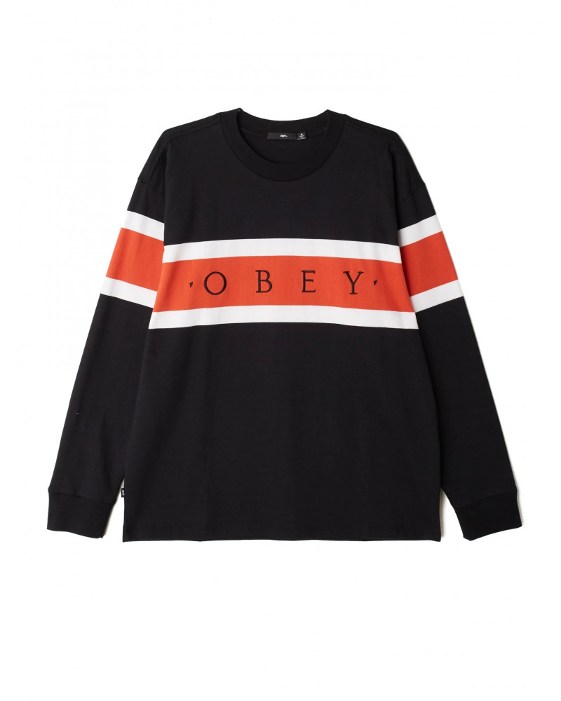 Obey T-Shirt Embrace L/S - Black