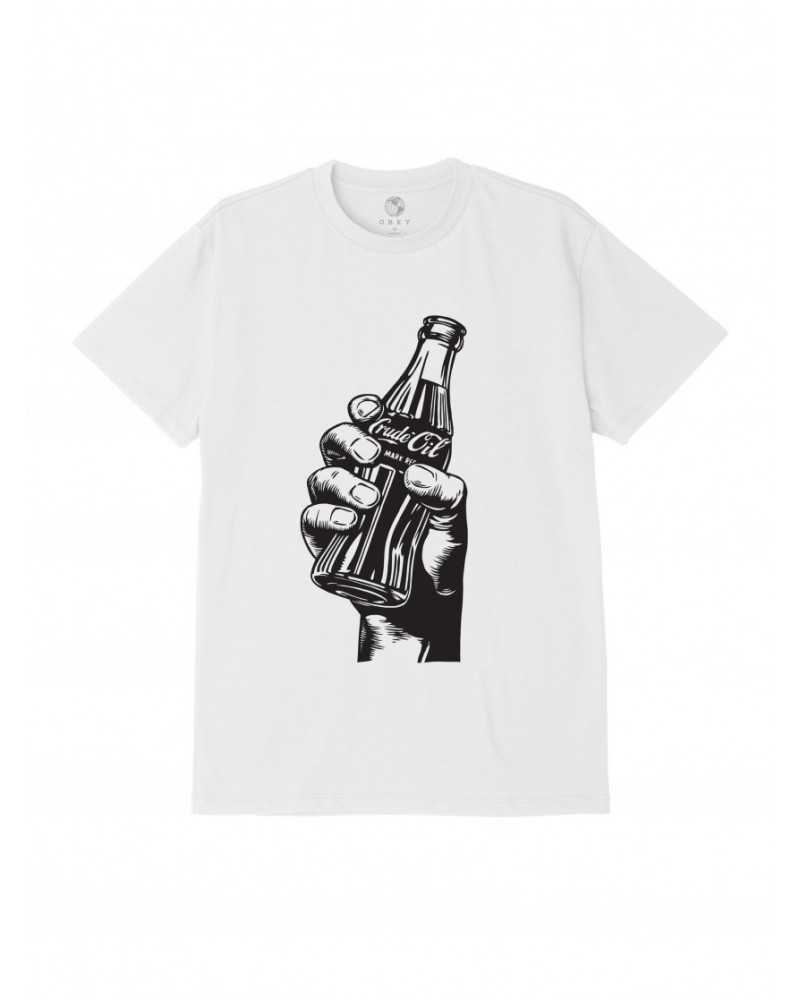 Obey Drink Crude Oil T-Shirt - White