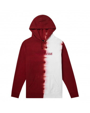 HUF Felpa Eclipse Hoodie - Rose Wood Red
