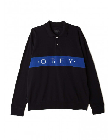 Obey Classic Bishops Polo L/S - Black