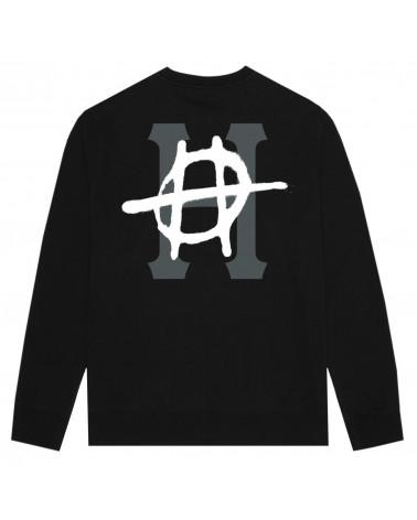 HUF Sweatshirt Riot Classic H Crew - Black