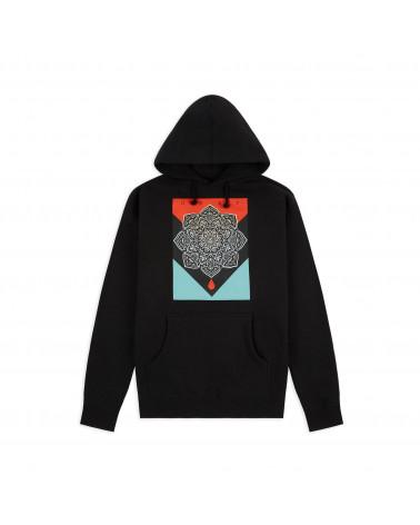 Obey Sweatshirt Blood & Oil Mandala Hoodie - Black