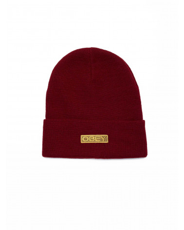 Obey Motion Beanie - Fig Red