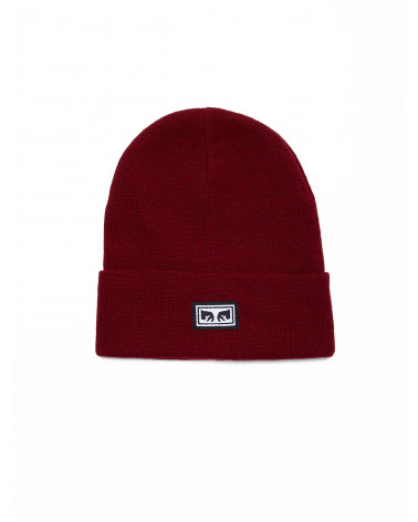 Obey Icon Eyes Beanie - Fig Red