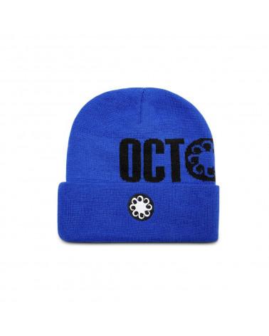 Octopus Logo Fold Beanie - Royal Blue
