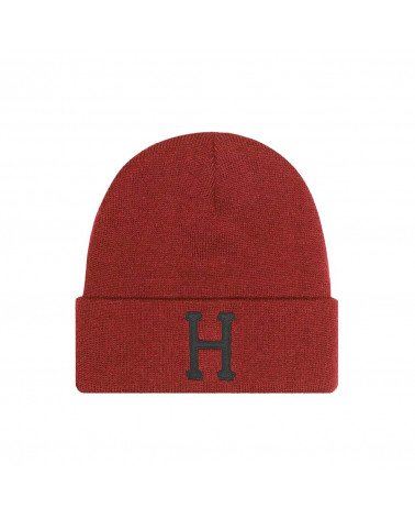 HUF Classic H Beanie - Rose Wood Red
