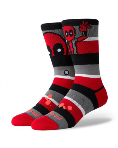 Stance Calze Deadpool Stripe - Red