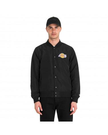 New Era NBA Team Logo Jacket Los Angele Lackers - Black