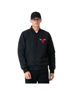 New Era NBA Team Logo Jacket Chicago Bulls - Black