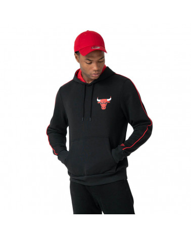 New Era NBA Sripe Piping Hoody Chicago Bulls - Black