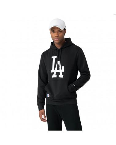 New Era Felpa MLB Seasonal Team Logo Hoody Los Angeles Dodgers - Black/White