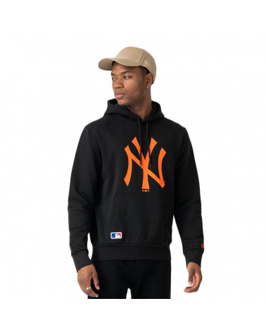 New Era Felpa MLB Seasonal Team Logo Hoody New York Yenkkes - Black/Orange