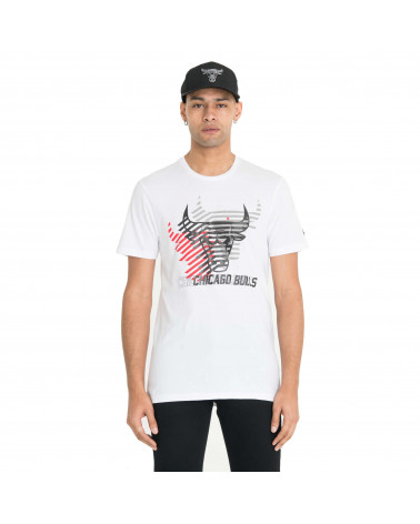 New Era T-Shirt NBA Logo Repeat Tee Chicago Bulls - White
