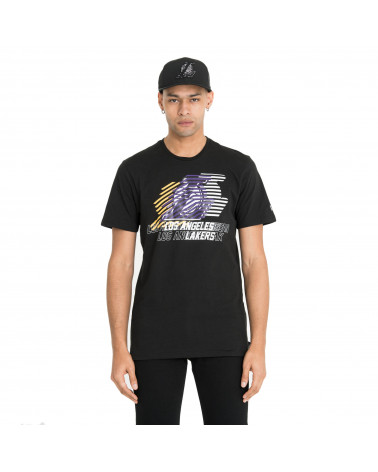 New Era T-Shirt NBA Logo Repeat Tee Los Angeles Lakers - Black