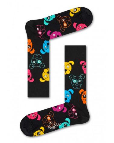 Happy Socks Calze Dog - Black