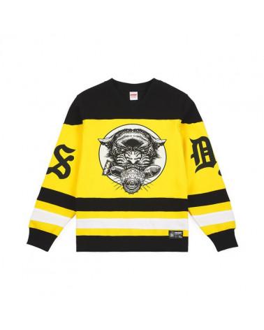 Doomsday Felpa Panther Hockey Crewneck - Black/Yellow