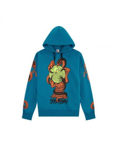 Doomsday Sweatshirt Omen Hoodie - Petrol