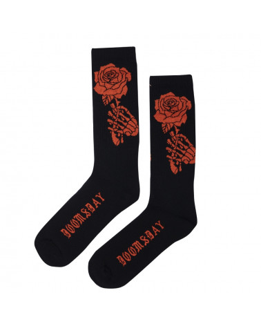 Doomsday Calze Bloody Rose Socks - Black