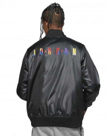 Jordan Spirit DNA HBR Satin Jacket - Black