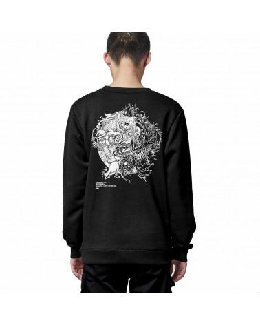 Dolly Noire Sweatshirt Tao Crewneck - Black
