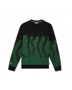 Octopus - Sweatshirt Octopus Ascii Crewneck - Green/Black