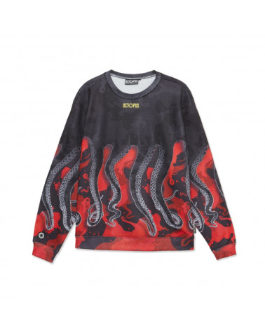 Octopus - Sweatshirt Octopus Crewneck - Red Camo