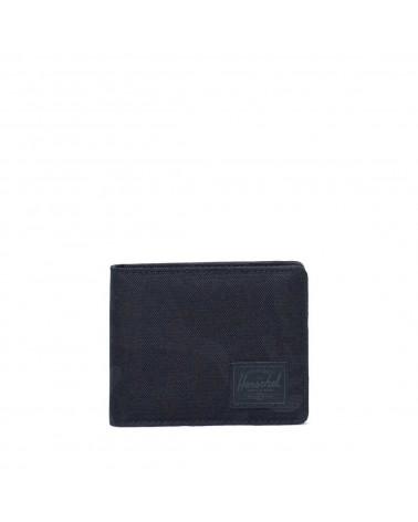 Herschel - Portafogli Roy Coin - Black Tonal