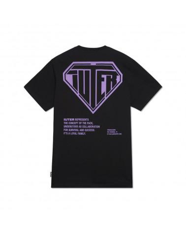 Iuter T-Shirt Double Logo Tee - Black