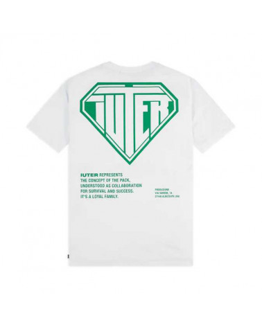 Iuter T-Shirt Double Logo Tee - White